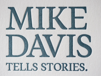 Mike Davis Business Cards Detail