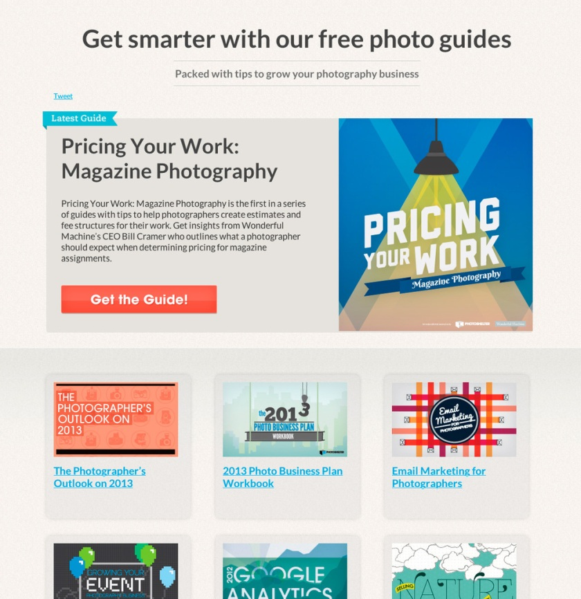 Photoshelter's photography guides.